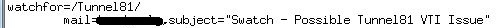 Configure swatch to alert on Tunnel81 syslog events
