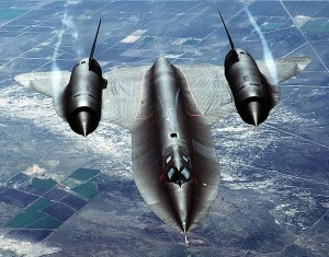SR-71 in flight (USAF - public domain)