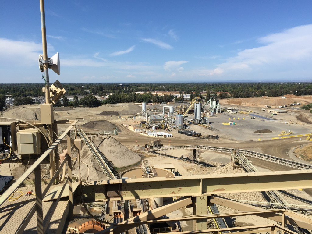 Working up high at an aggregate mine