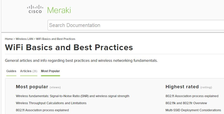Lots of great articles and best practices for wireless networks