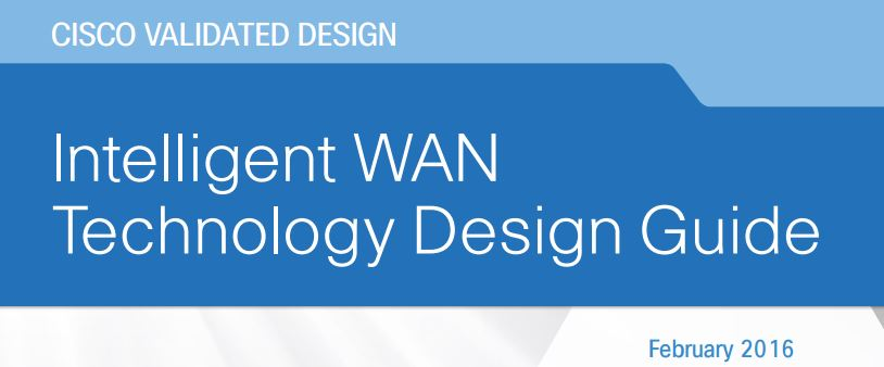 Cover pae for the CVD iWAN guide